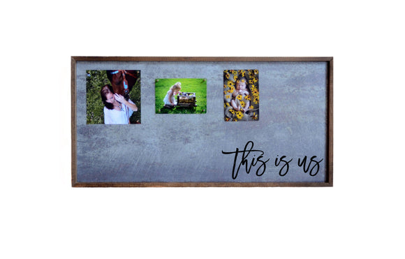 12x24 Magnetic Photo Frame - This is us Horizontal