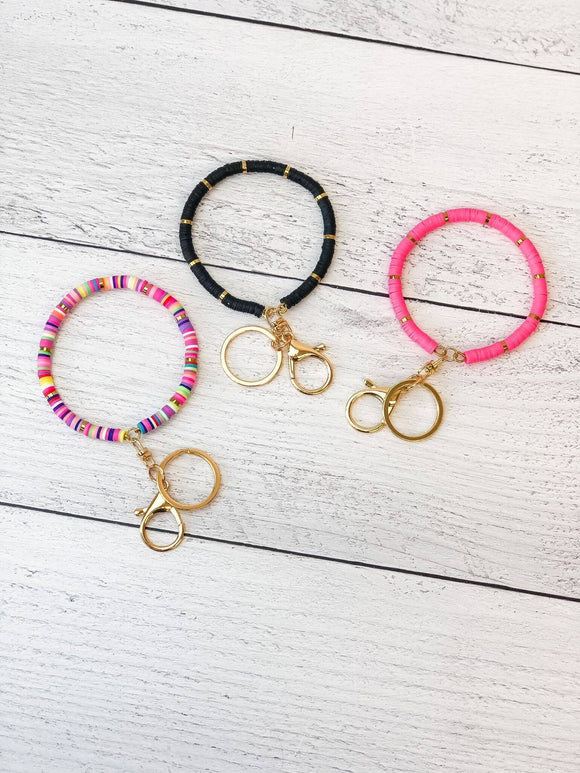Rubber Disc Bangle Key Ring