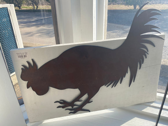 Metal Rooster Sign