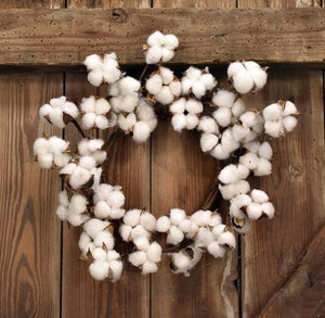 "12"" Cotton Wreath"
