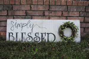 Simply Blessed Wreath Sign