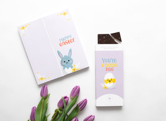Easter Card with Chocolate Inside - You're a Good Egg