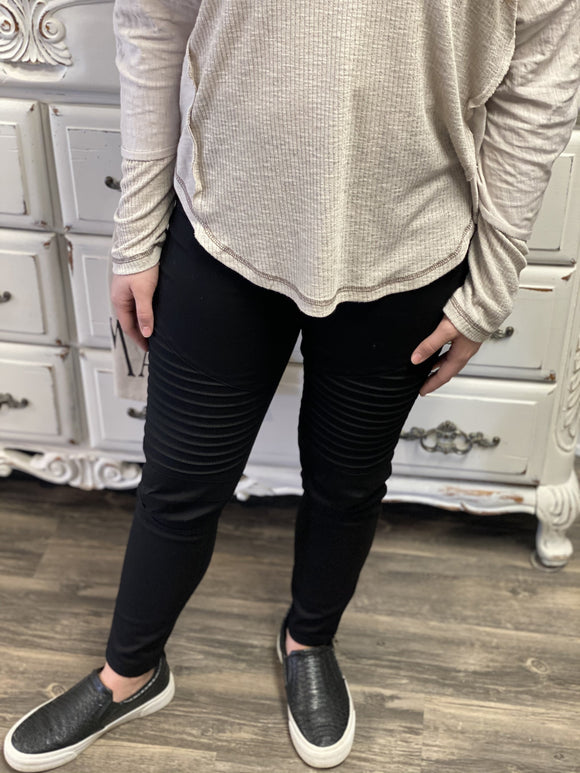 Moto Jeggings | Black