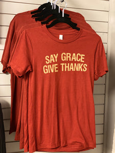 Say Grace Give Thanks Tee