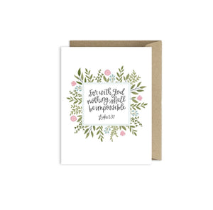 Greeting Card | For With God