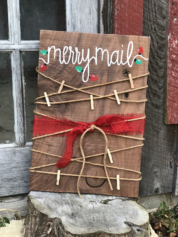 Merry Mail Sign