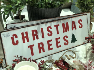 Metal Christmas Trees Sign