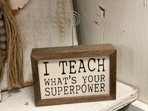 Teacher Frame Sign