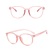 Thin Pink Circular Blue Light Blocker Glasses