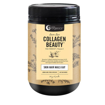 Nutra Organics | Collagen Beauty Lemon Lime 300g | Mungbean Health Supplement Store