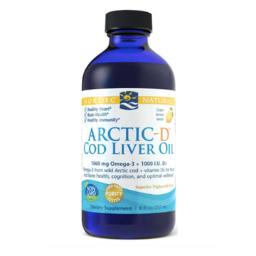 Nordic Naturals | Arctic-D Cod Liver Oil- 237ml (lemon) | Mungbean Health Supplement Store