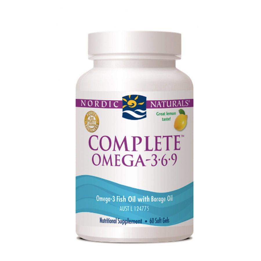 Nordic Naturals | Complete Omega 3.6.9 - 60 soft gels (lemon) | Mungbean Health Supplement Store