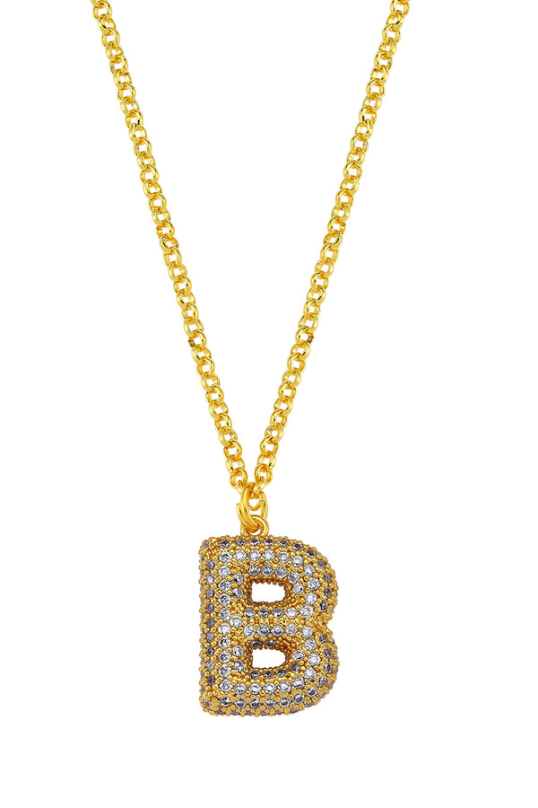 Ma Cherie Letter Gold Chain Necklace