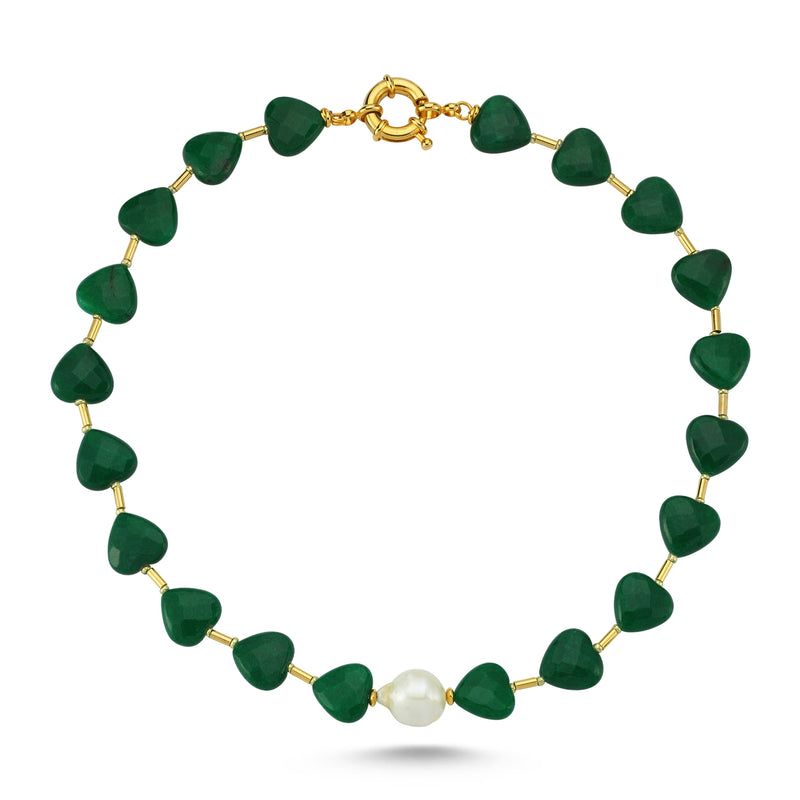 Love Me Sweet Pearl Green Necklace