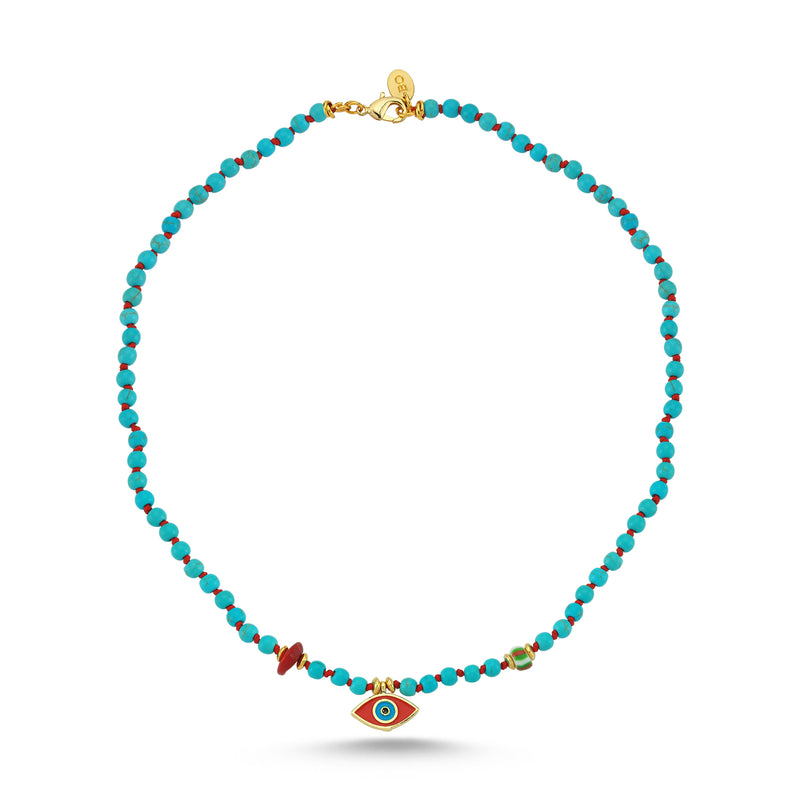 Nazar Turquoise Red Eye Necklace