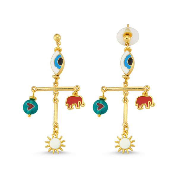 Summer Dance Sun Earrings