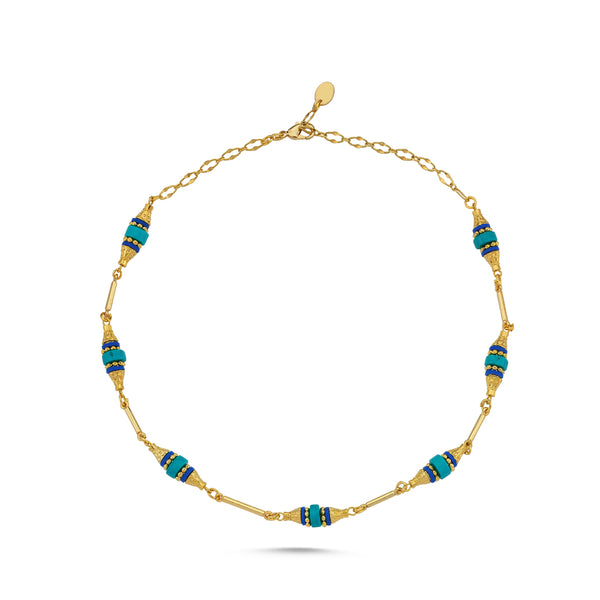 Madrid Blue Beaded Necklace