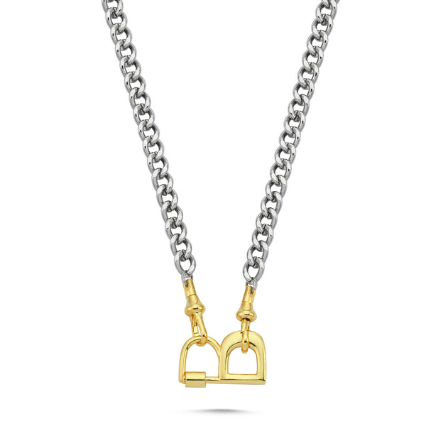 Letter Lock Chain Necklace