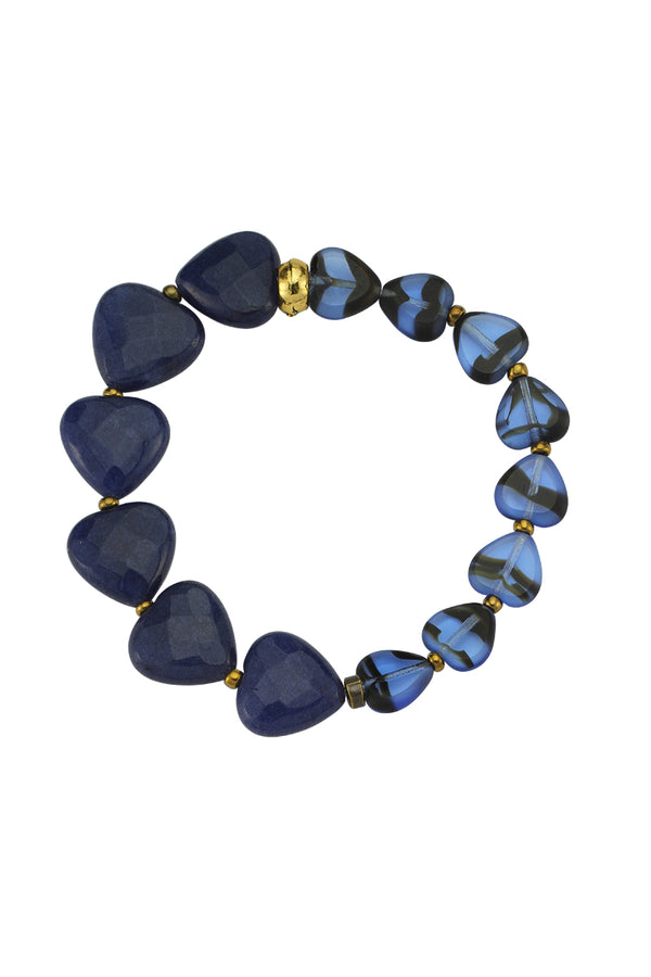 Love Me Sweet Glass Bead Blue Bracelet