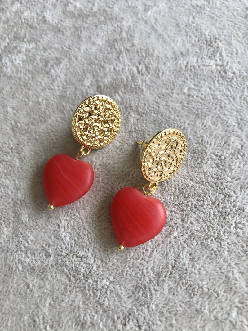 Love Me Sweet Red Heart Earrings