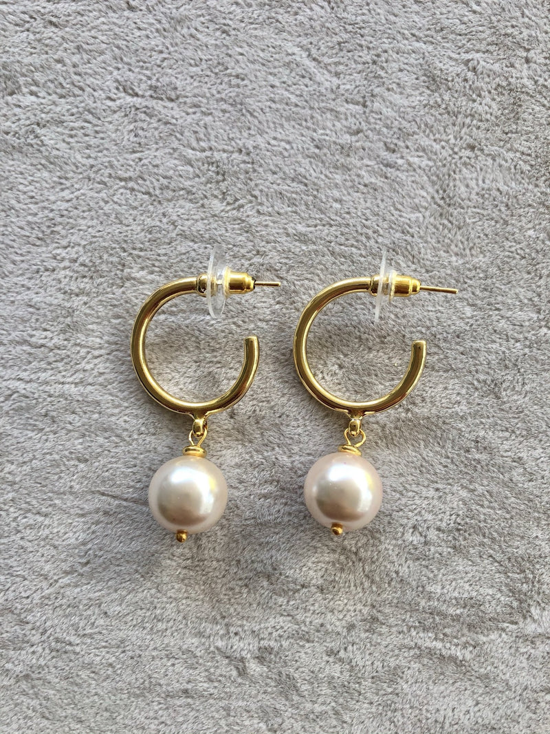 Mallorca Pearl Hoop Earrings
