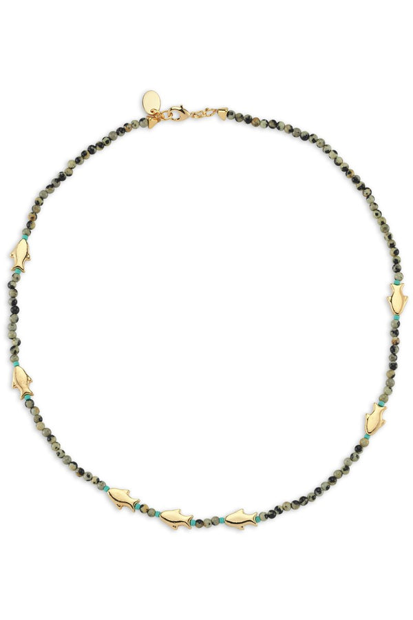Bodrum Fish Detailed Beaded Necklace