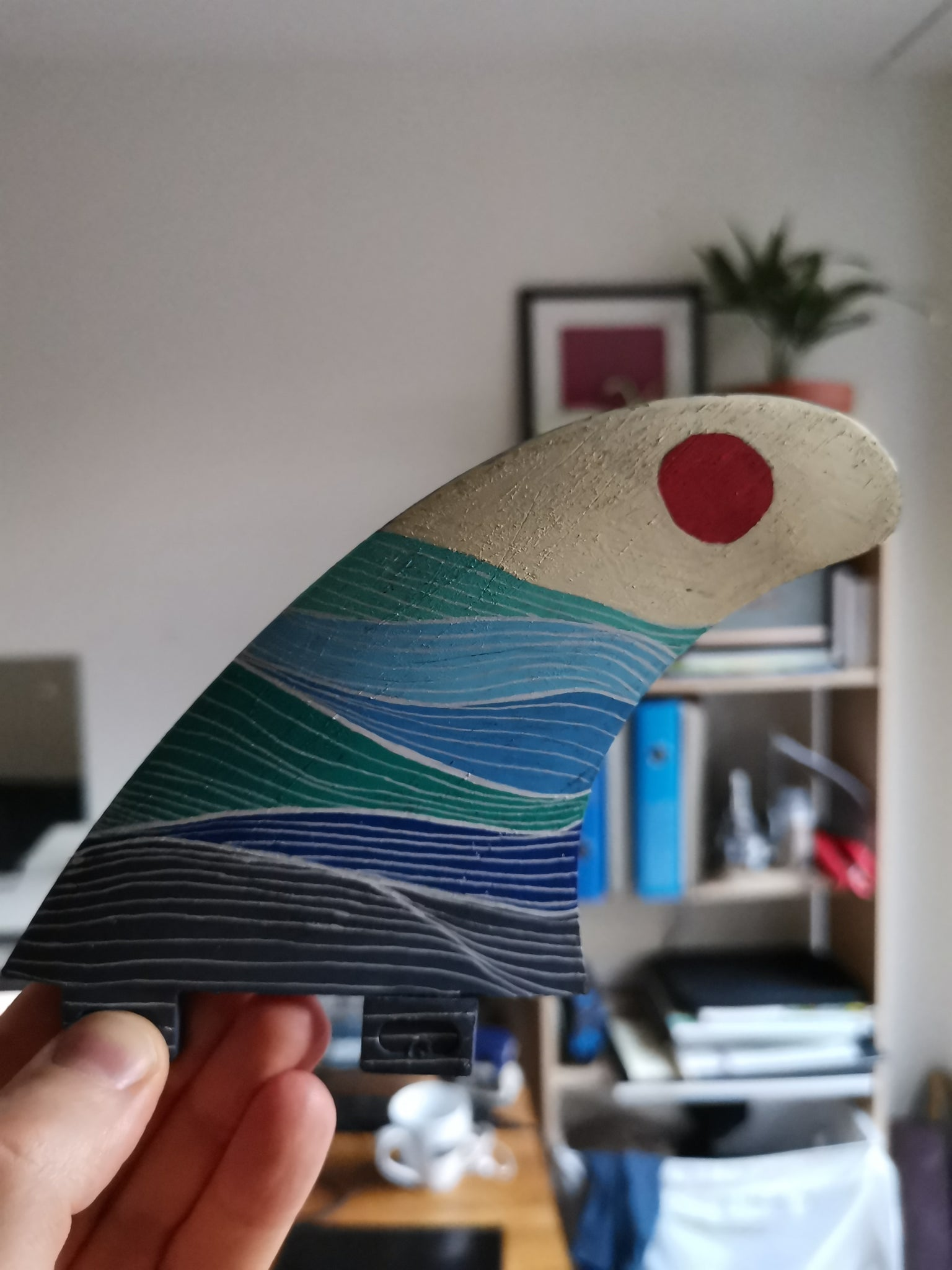 Original upcycled surfboard fin