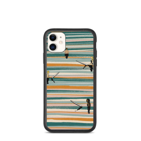 """The ocean has many colors"" Biodegradable Iphone case"