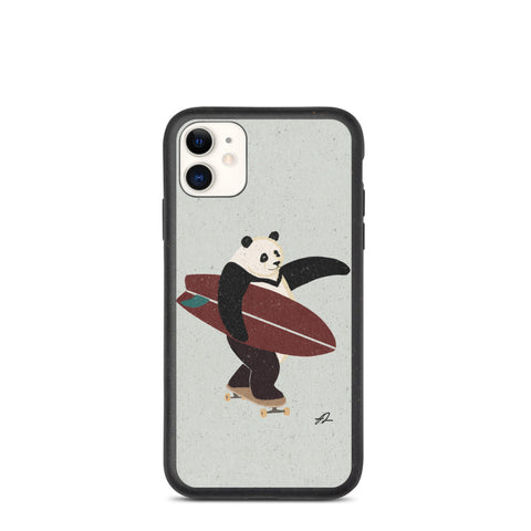 """Surfing Panda"" Biodegradable Iphone case"