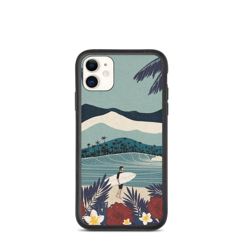 """Stache in the tropics"" Biodegradable Iphone case"