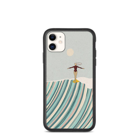 """Surf goddess"" Biodegradable Iphone case"