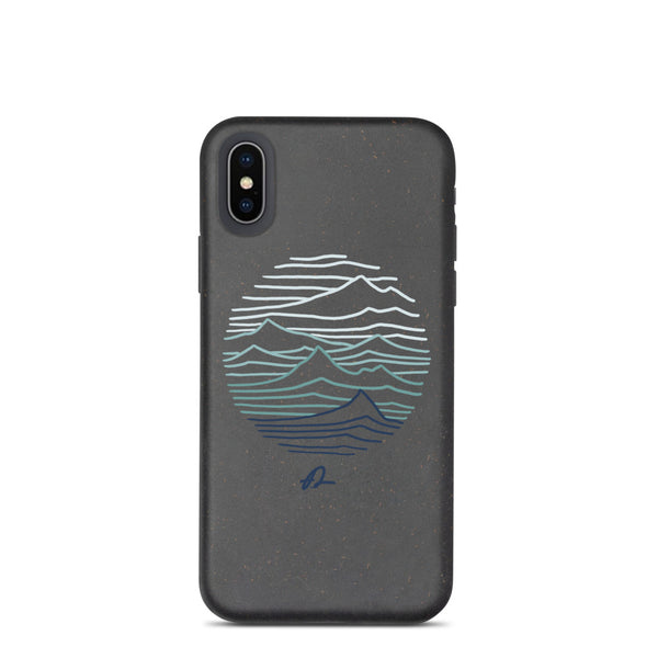 """Mountain lines"" Biodegradable Iphone case"