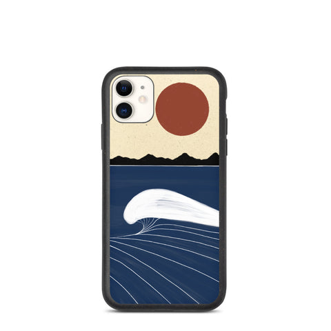 """Deep blue"" Biodegradable Iphone case"