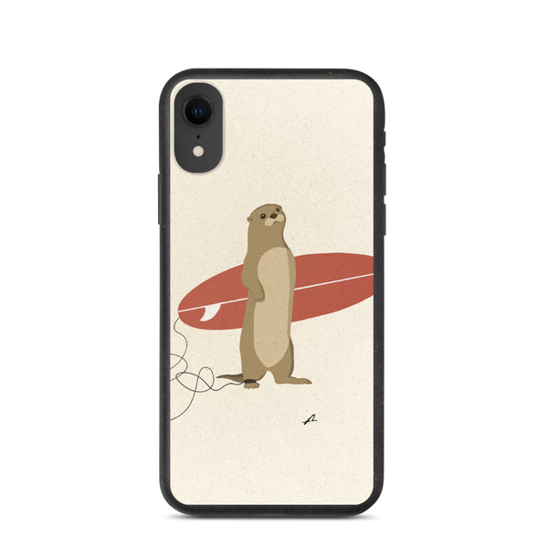 """Surfing Otter"" Biodegradable Iphone case"
