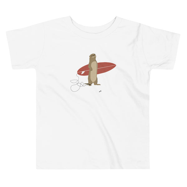 """Surfing Otter"" Toddler Short Sleeve Tee"