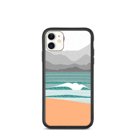 """Beach break"" Biodegradable Iphone case"
