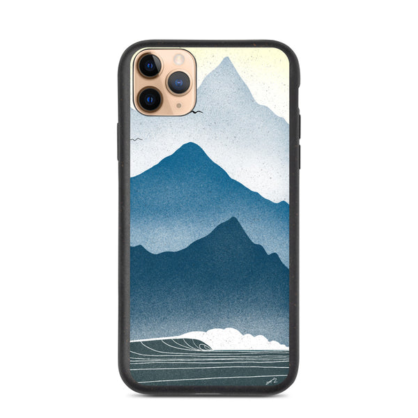 """Blue mornings"" Biodegradable Iphone case"