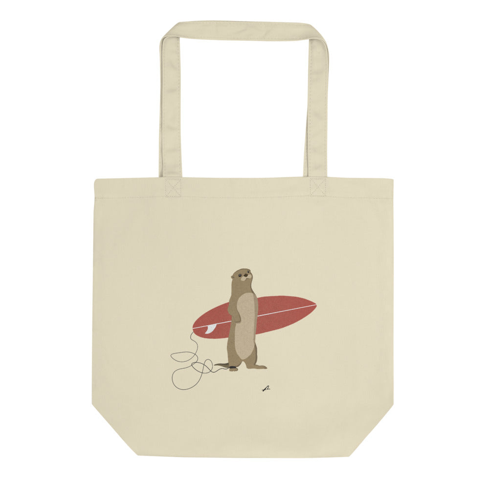 """Surfing otter"" Eco Tote Bag"
