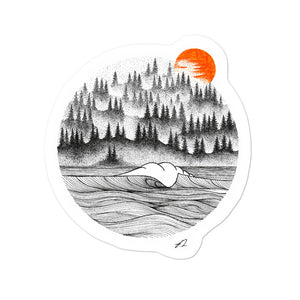 """Forest Sunset"" Sticker"