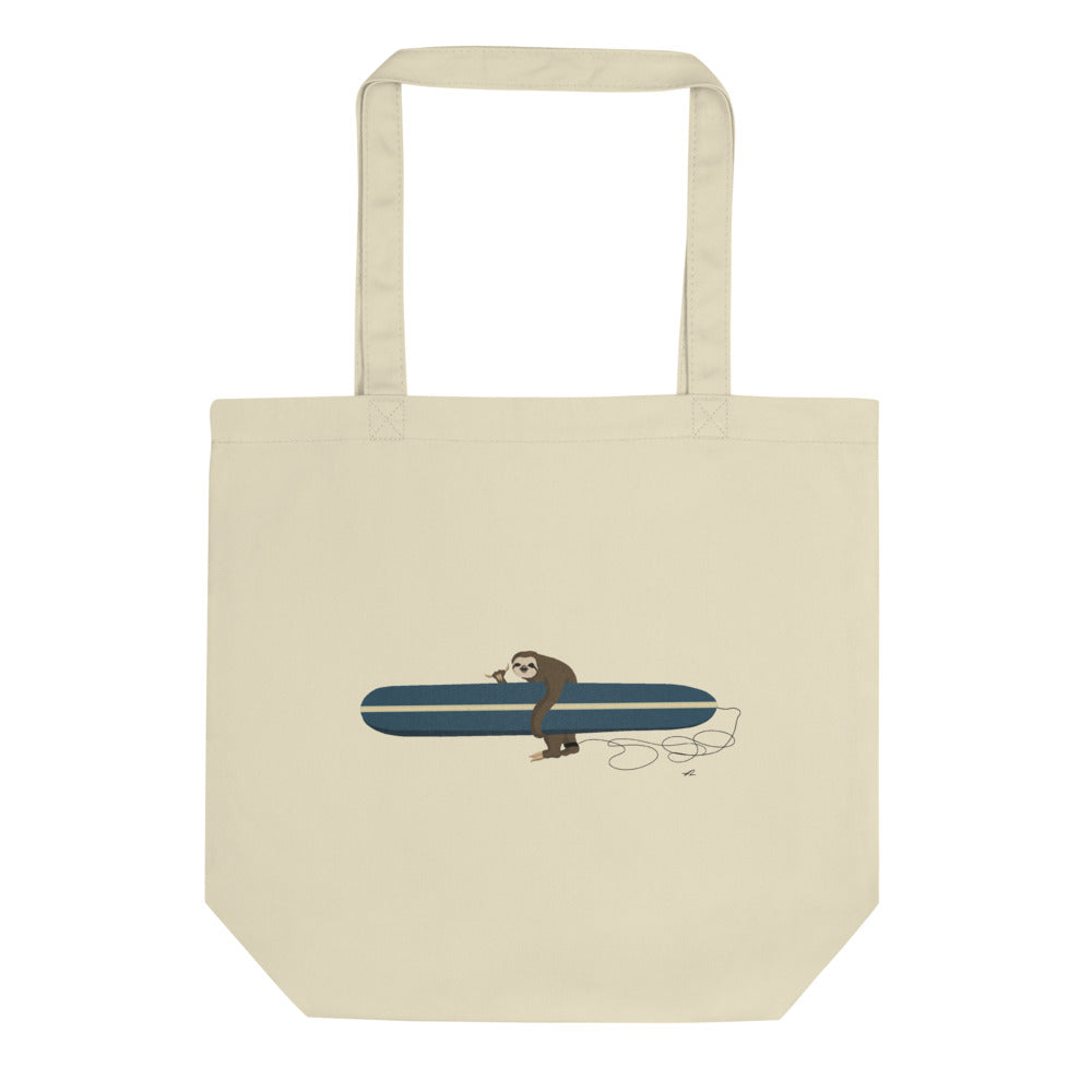 """Surfing Sloth"" Eco Tote Bag"