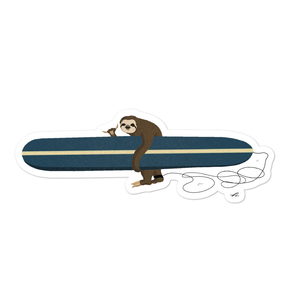"""Surfing Sloth"" Sticker"