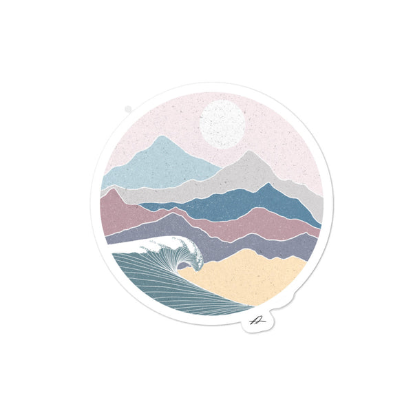 """Colorful Mountains"" Sticker"