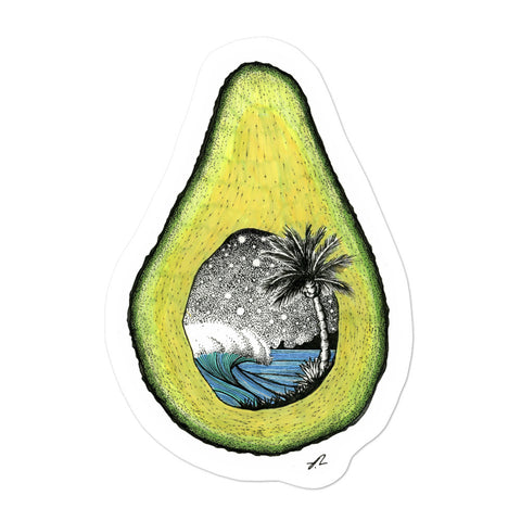 """Avocado World"" Sticker"