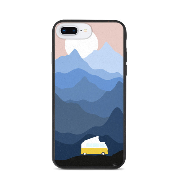 """Vanlife in the mountains"" Biodegradable Iphone case"