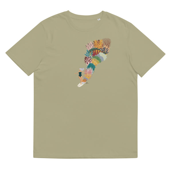 """Coral Slide"" Unisex Organic Cotton T-Shirt"