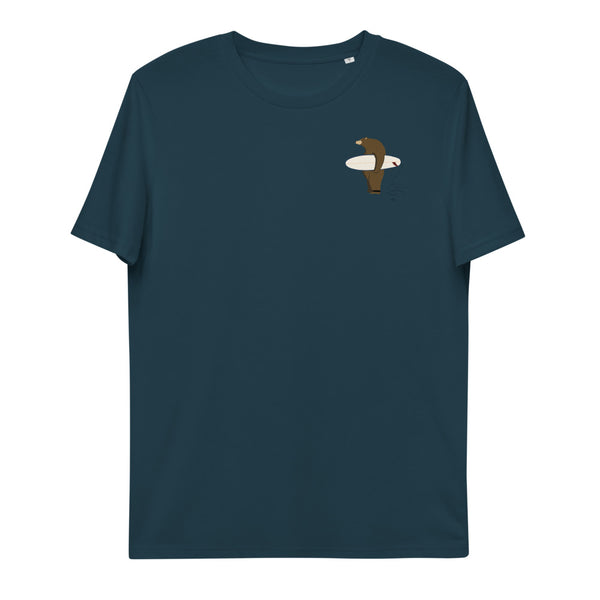 """Surfing Grizzly"" Unisex Organic Cotton T-Shirt"