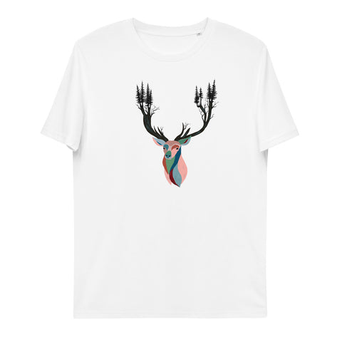 """Majestic Deer"" Unisex Organic Cotton T-Shirt"