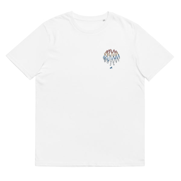 """More trees, less ..."" Unisex embroidery organic cotton t-shirt"