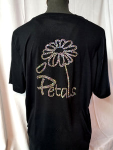 Short sleeve Petals V-neck shirt