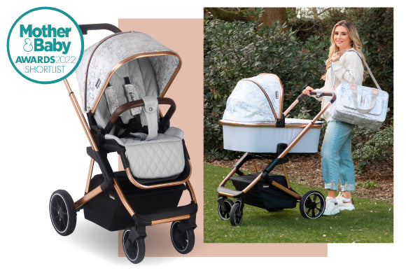 My Babiie Dani Dyer MB500 Rose Gold Marble Travel System